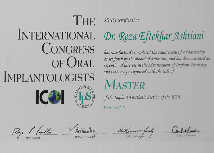 The International Congress Of Oral Implantologists